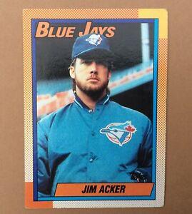 1990 TOPPS Carte BASEBALL n° 728 JIM ACKER BLUE JAYS Trading Card