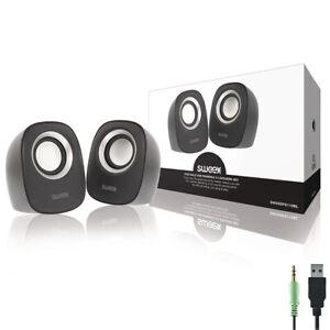 Nedis PC Lautsprecher 2.0 , 12W Speaker Multimedia Boxen für PC Computer Laptop