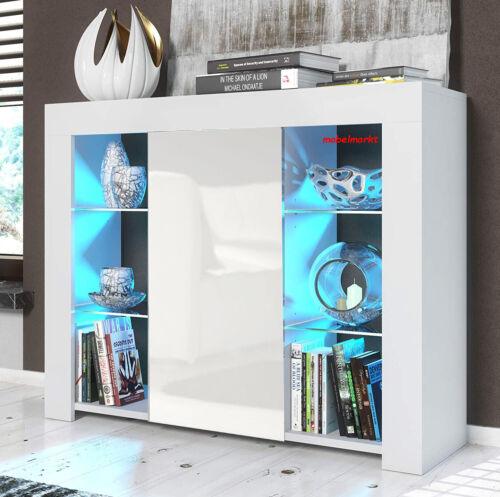 TV Schrank Lowboard Sideboard MILANO 105 mit RGB Rücklicht