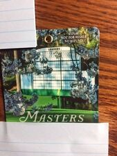 1-2017 USED MASTERS GOLF BADGES~COLLECTORS ITEM~RARE TICKET w/ PIN SERGIO GARCIA