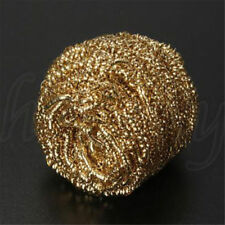 3pcs Gold Soldering Iron Tip Cleaning Wire Cleaner Brass Sponge Ball Holder