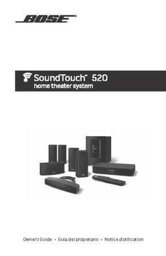 bose soundtouch 520 home theater system ebay rh ebay com bose 501 owner's manual bose 501 owner's manual