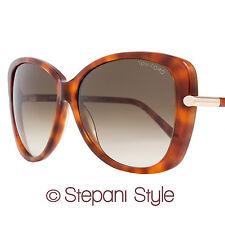 Tom Ford Butterfly Sunglasses TF324 Linda 56F Light Havana/Gold FT0324