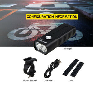 USB-Rechargeable-Bike-Front-Light-Road-MTB-Bicycle-Cycling-LED-Head-Lamp-Torch