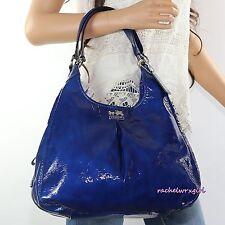NWT Coach Madison Patent Leather Maggie Shoulder Bag 21238 Ultramarine Blue RARE