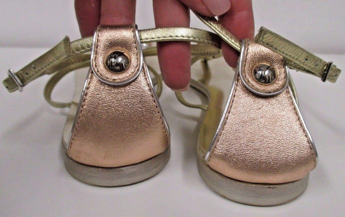 Giuseppe Zanotti de Color rosadodo Planas y amarillo oro Sandalias Planas rosadodo Con Cristales-tamaño 36.5 14e02a