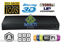 Samsung Bd-j5900 Zone A Blu-ray Disc Player Multi Region Free Dvd Wifi- Usb- 3d
