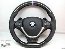 BMW E71 X6 E70 X5 M Ring Stitch Napa THICKER Flat Bottom CARBON Steering WHEEL