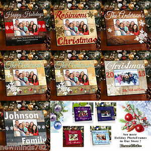 Personalized-CHRISTMAS-HOLIDAY-PICTURE-PHOTO-FRAME-Wood-7-Designs
