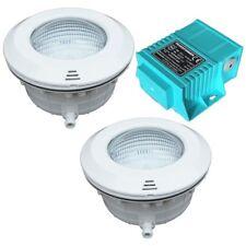 Set 2 x Unterwasserscheinwerfer mit LED weiß und Trafo Schwimmbeckenbeleuchtung