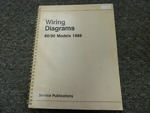 1988 Audi 80 & 90 Quattro Sedan Electrical Wiring Diagram Manual Book B3 |  eBayeBay