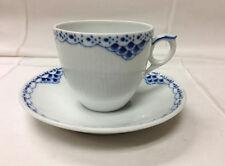 "ROYAL COPENHAGEN ""PRINCESS BLUE"" COFFEE CUP & SAUCER 6 OZ. DENMARK #072 / #073"