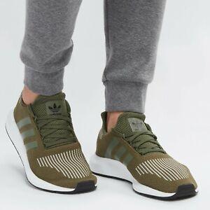 ADIDAS ORIGINALS SWIFT Run Base Green Olive Knit Mens Running All NEW size 12