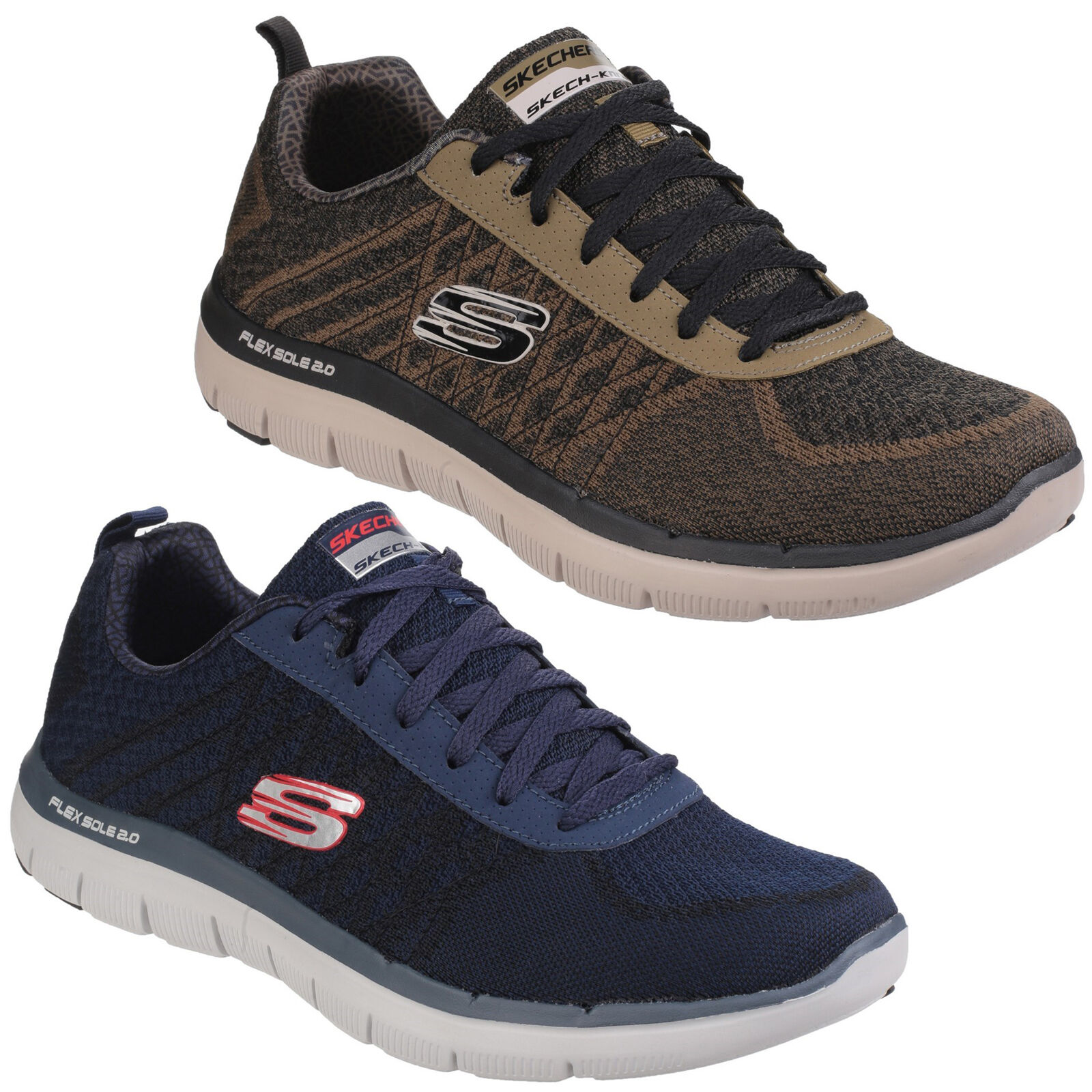 Skechers Flex Advantage 2.0 golden Point Mens Athletic Trainers shoes UK6-12