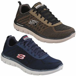 Détails sur Skechers Flex Advantage 2.0 Golden Point Homme Athlétique Baskets UK6 12