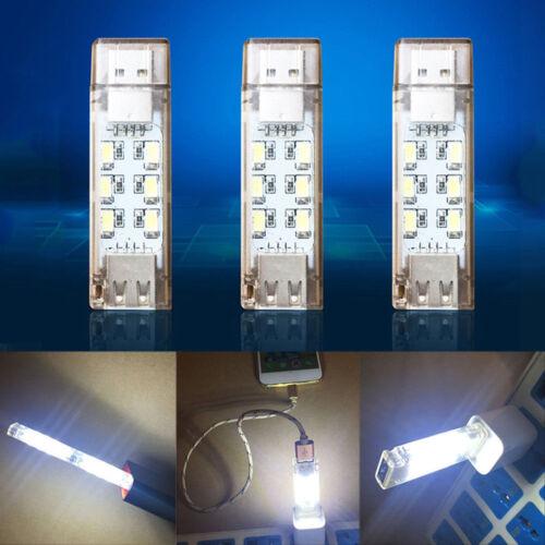 Mini Portable Mobile Power USB LED Light Camping Computer Night Lighting Gadget
