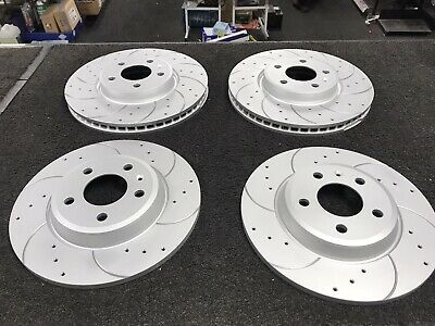AUDI 8T A5 REAR DRILLED GROOVED BRAKE DISCS FOR COUPE 1.8-3.0 3.2 07-17 300mm