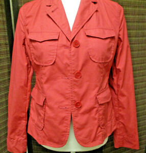 Talbots-Blazer-sz-6P-color-coral-4-pockets-pre-owned-excellent-condition-co
