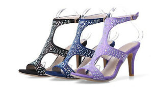 Womens-High-Heel-Hollow-Out-Rhinestones-Slingbacks-Summer-Sandals-Shoes-pLus-Sz