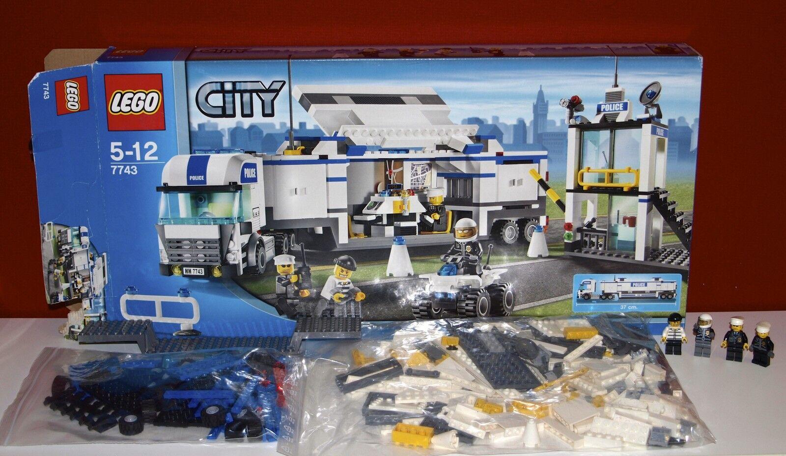 Lego City 7743 Police Command Center, Überwachungswagen, OBA, OVP, BOX, TOP