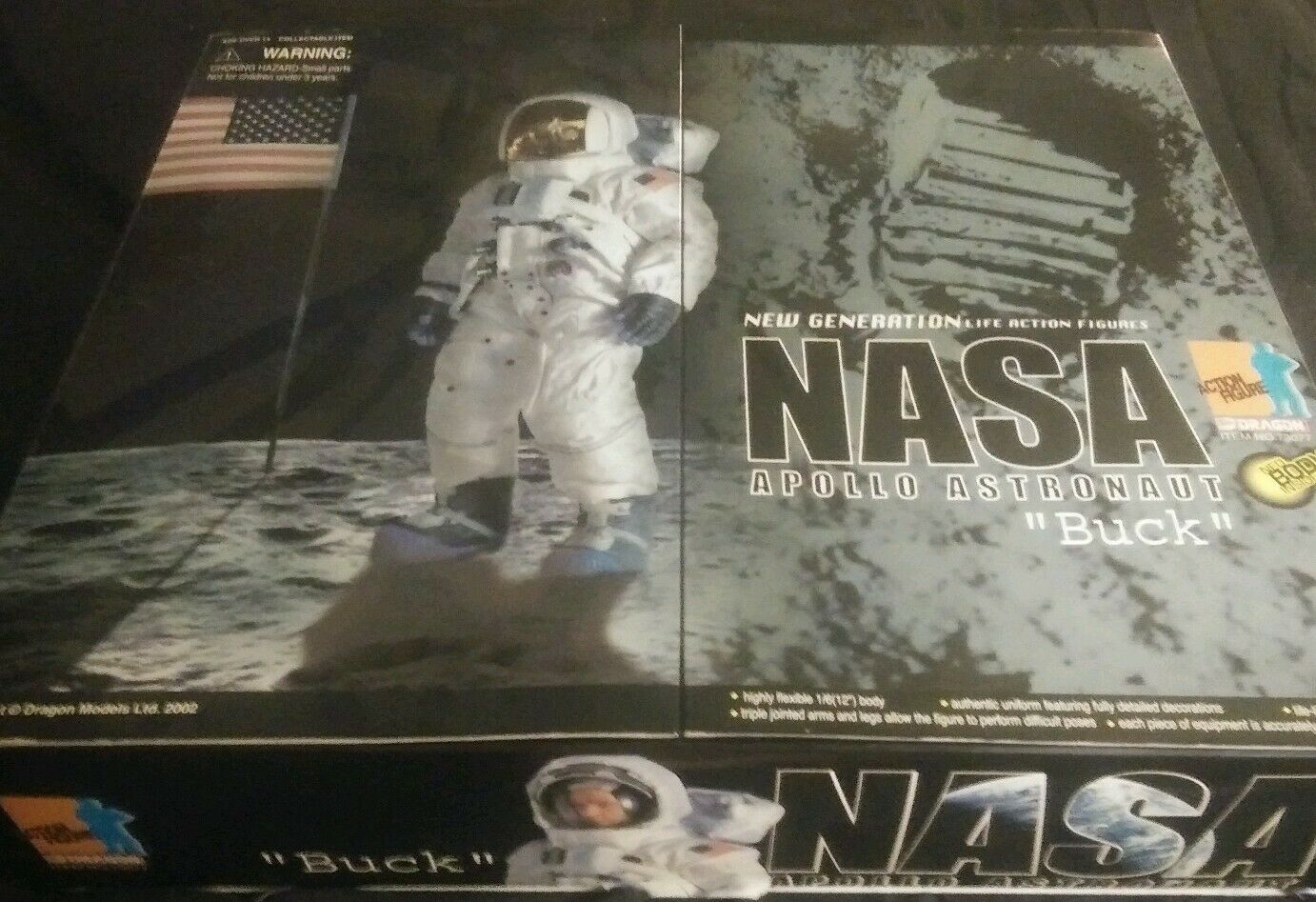 Dragon Action Figure, Buck Nasa Astronaut