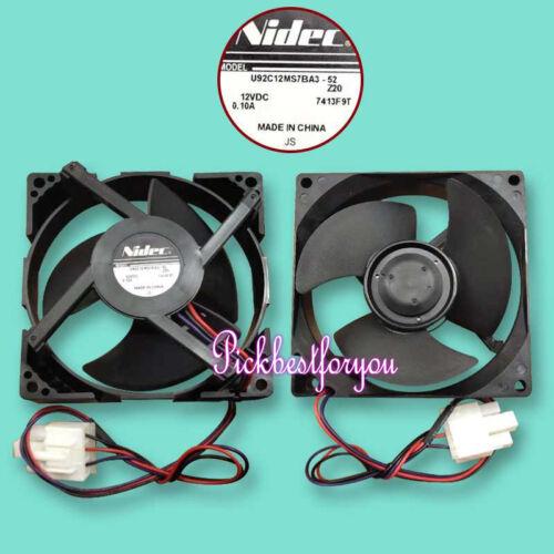 NIDEC U92C12MS7BA3-52 1pc 3pin 12V 0.1A 90MM #M257B Ql del ventilador de refrigeración