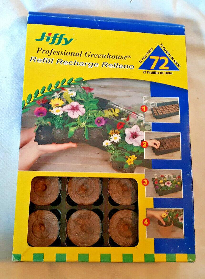 JIFFY Professional Greenhouse Refill 72 Round Flat Peat Pellets (1 3/8