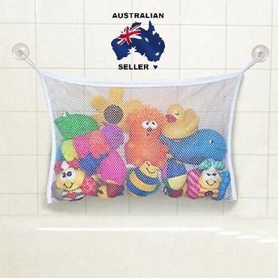 Baby Kids Bath Time Toy Tidy Storage Suction Cup Bag Mesh Bathroom Organiser Net