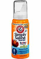 5 Pack - Arm And Hammer Simply Saline Baby Nasal Relief Mist 1.5 Ounce Each on sale