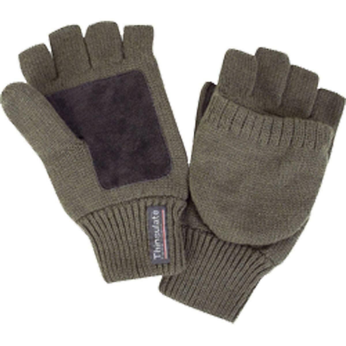 Bisley Thinsulate Shooter's Mitts Green Men's