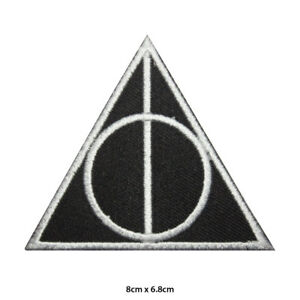 Harry-Potter-Deathly-Hallow-Symbol-Embroidered-Patch-Iron-on-Sew-On-Badge