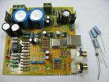 PCM2706 + CS4398 + AD827 USB DAC Board Amp kit Dual 15Vx2 + 8V x1