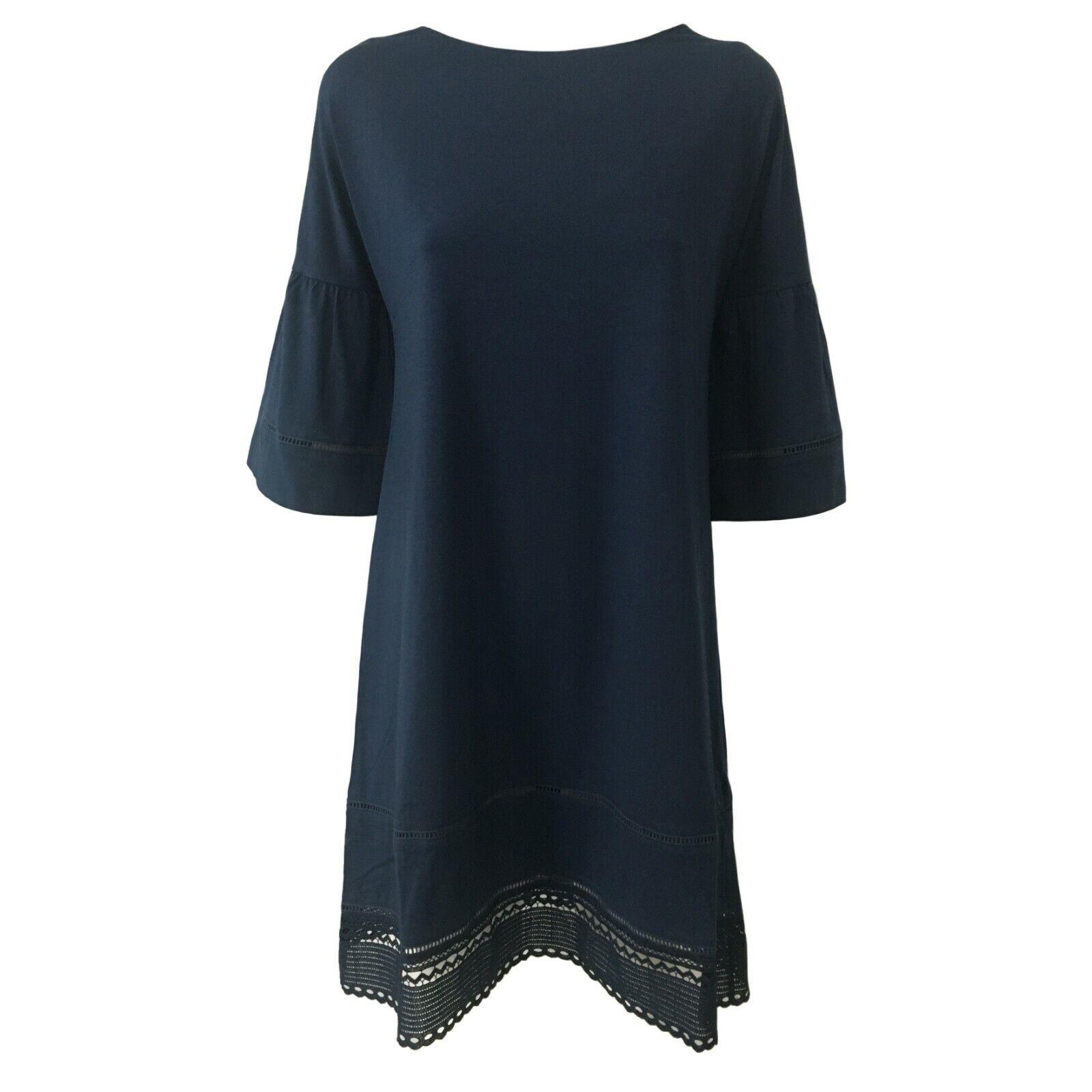 Robe Femme Bleu Alpha Studio Manches 3/4 Article AD-1411O 95% Coton 5%