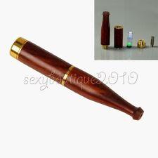 Reusable Tobacciana Natural Ebony Wood Double Filter Cigarette Holder Filtration
