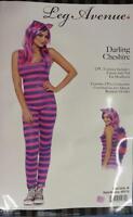 Darling Cheshire Cat Alice Wonderland Fancy Dress Halloween Sexy Adult Costume