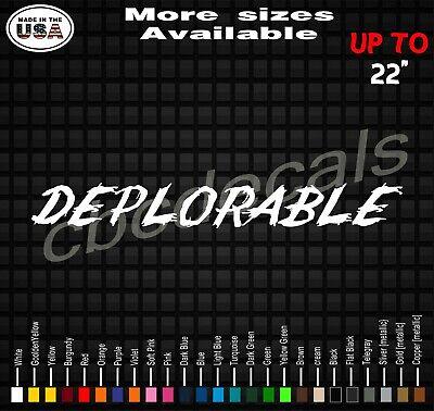Deplorable Trump American Flag Vinyl Decal StickerTRUMP 2020 Decals