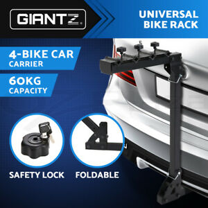 "Giantz 4 Bicycle Bike Rack Rear Car Carrier Hitch Mount  2"" Foldable w/ Lock"
