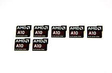 AMD Elite Quad Core A10 Sticker 7x Stück pcs Aufkleber CPU Laptop Label logo neu