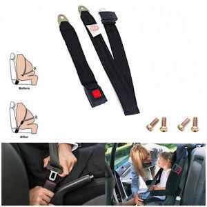 2 Pack Adjustable Seat Safety Belt Kit Single Double Seat Lap Seatbelt Universal for Go Kart UTV