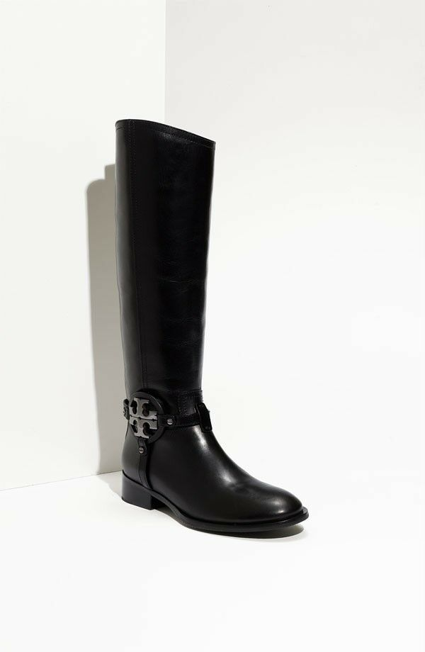 TORY BURCH 'AADEN' BLACK LEATHER BOOTS 5 $495  SOLD OUT