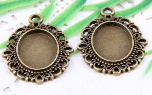 Wholesale 9//20Pcs Bronze Plated (Lead-Free)Frame Charms Pendant 33.5x24.5mm
