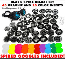 GodEmperor 23 GOGGLES  Cyber Rave Punk Welding Goth Spike Black