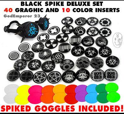 GodEmperor 23 GOGGLES  Cyber Rave Punk Welding Goth Spike Black