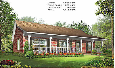 Steel Frame Home Kit - 3 Bedroom, 2 Bath, 1415 sqft