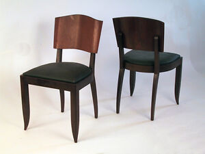 Image Is Loading French Art Deco Dining Chairs 1935 Part Of