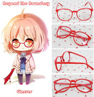 Anime Kyoukai no Kanata Beyond the Boundary Kuriyama Mirai Red Cosplay Glasses