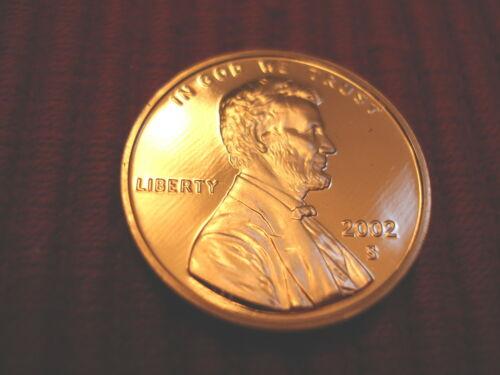 2002 S Lincoln Memorial Gem Proof Penny