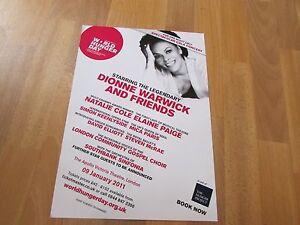 Dionne WARWICK Mica PARIS Natalie COLE World HUNGER Day APOLLO Theatre Poster