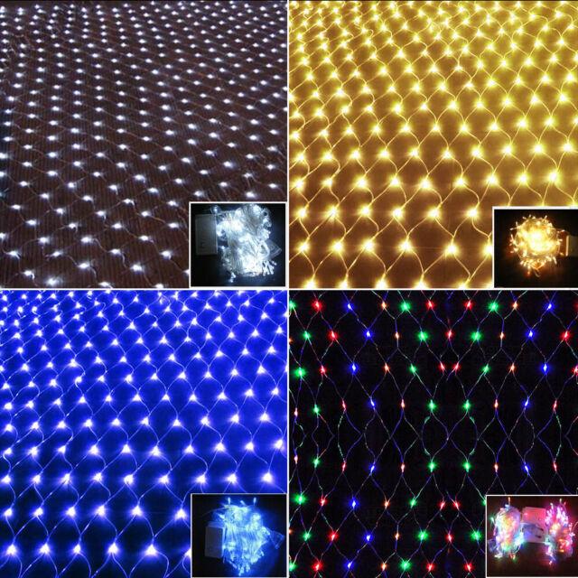 LED Lichternetz Deko Außen Lichterkette Weihnachten Lichterketten Beleuchtung