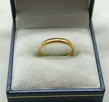 1930's Samuel Hope 22ct Gold Plain Narrow Wedding Ring